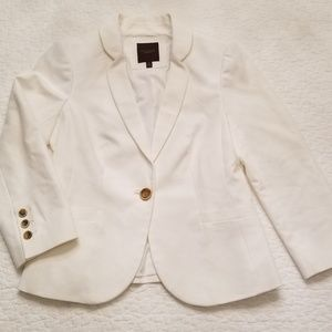 The Limited white one button blazer
